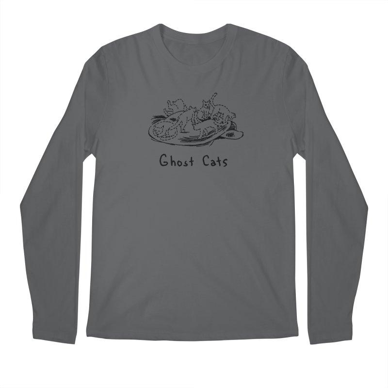 Ghost Cats (Gabrielle Bell, blk) Men's Longsleeve T-Shirt by Uncivilized Books Merch Shop