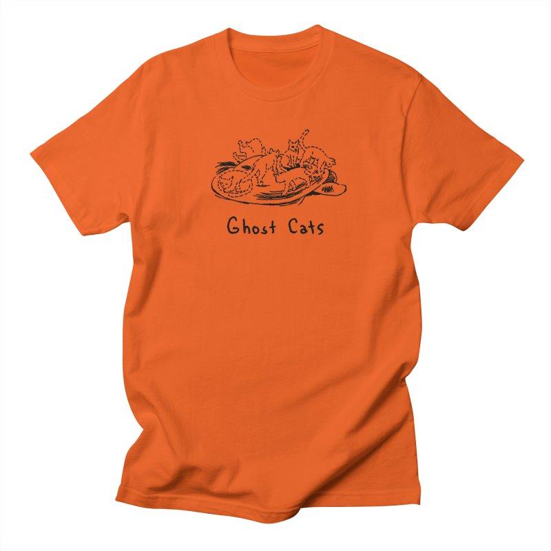 Ghost Cats (Gabrielle Bell, blk) Men's Regular T-Shirt by Uncivilized Books Merch Shop