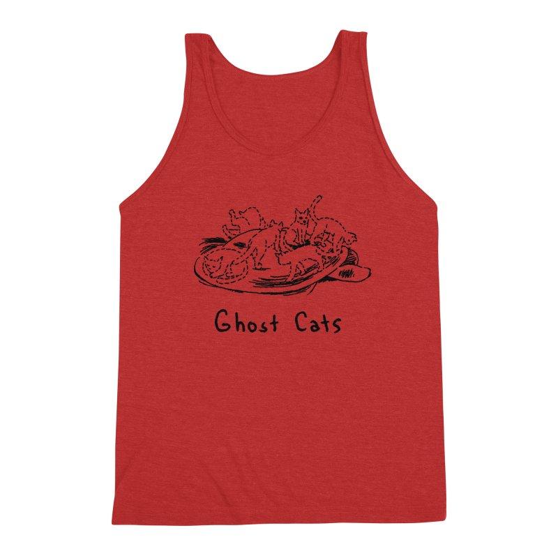 Ghost Cats (Gabrielle Bell, blk) Men's Triblend Tank by Uncivilized Books Merch Shop
