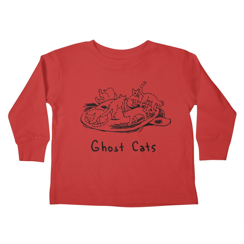 Ghost Cats (Gabrielle Bell, blk) Kids Toddler Longsleeve T-Shirt by Uncivilized Books Merch Shop