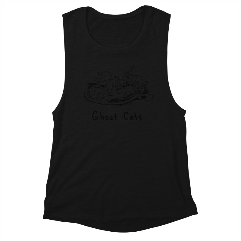 Ghost Cats (Gabrielle Bell, blk) Women's Muscle Tank by Uncivilized Books Merch Shop