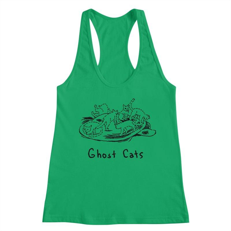 Ghost Cats (Gabrielle Bell, blk) Women's Racerback Tank by Uncivilized Books Merch Shop