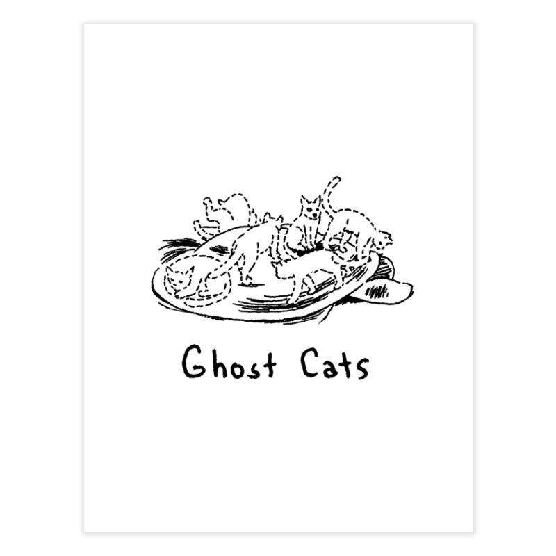 Ghost Cats (Gabrielle Bell, blk) Home Fine Art Print by Uncivilized Books Merch Shop