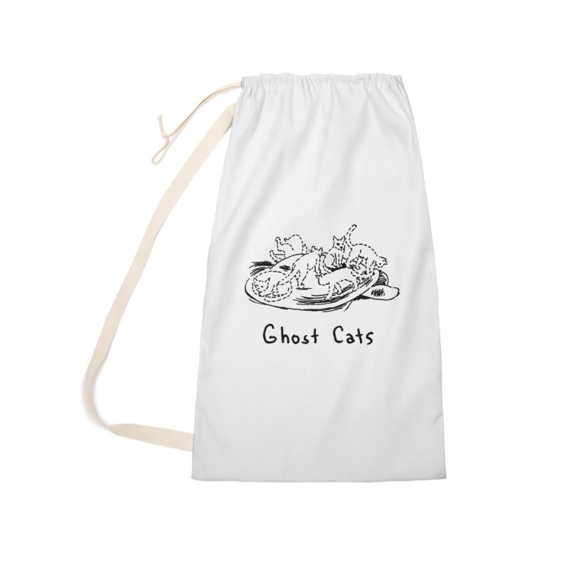 Ghost Cats (Gabrielle Bell, blk) Accessories Laundry Bag Bag by Uncivilized Books Merch Shop