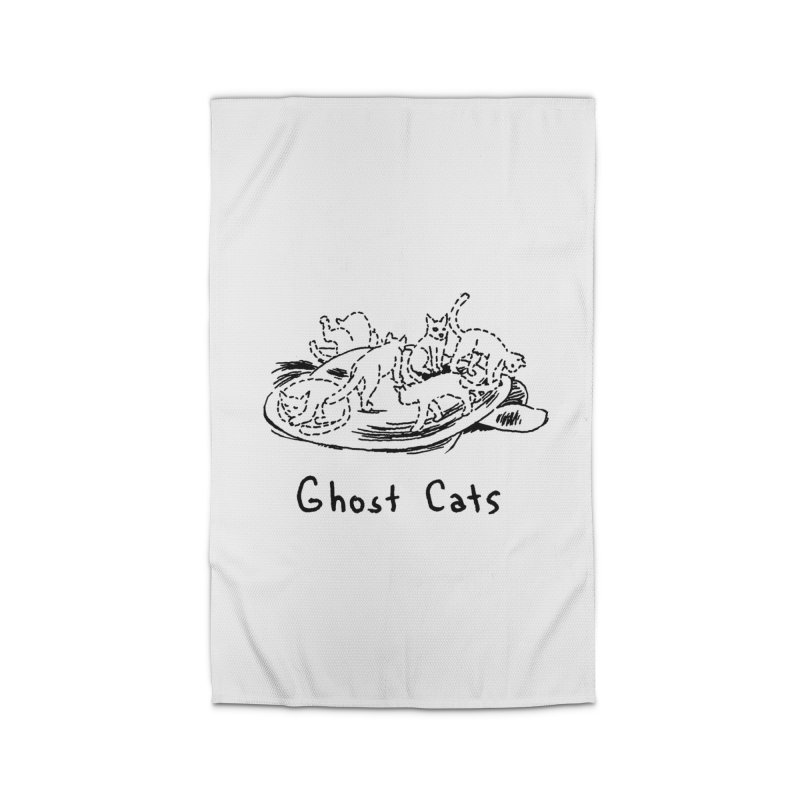 Ghost Cats (Gabrielle Bell, blk) Home Rug by Uncivilized Books Merch Shop
