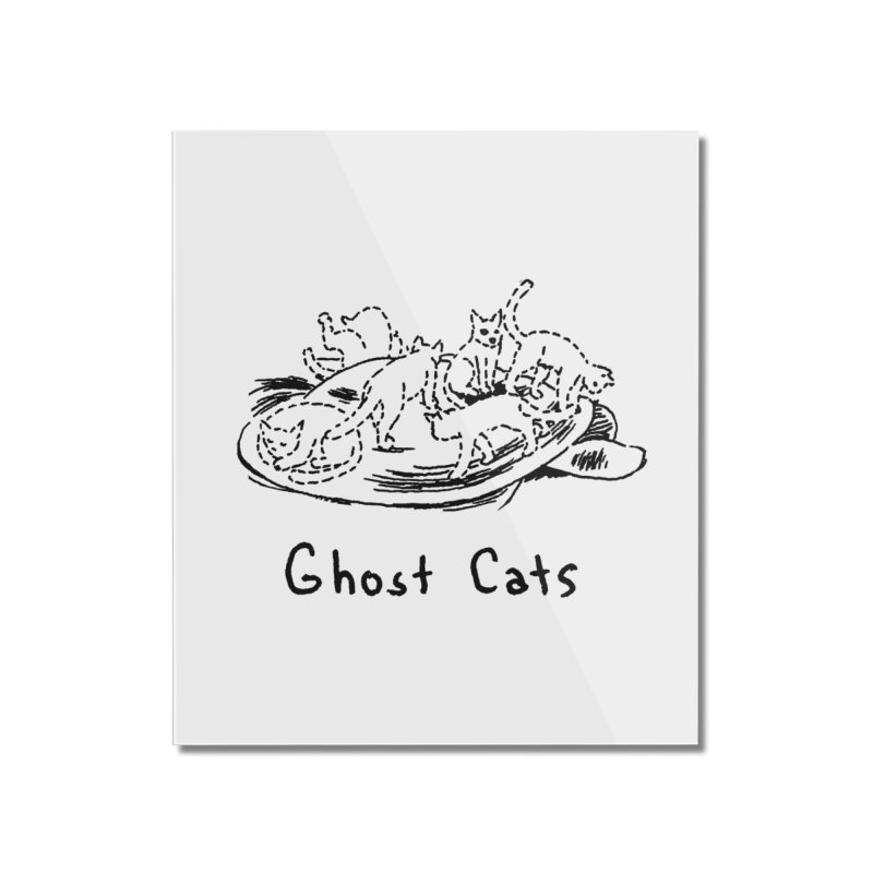 Ghost Cats (Gabrielle Bell, blk) Home Mounted Acrylic Print by Uncivilized Books Merch Shop