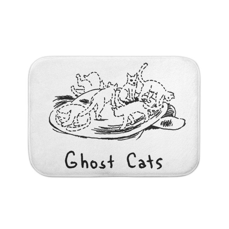 Ghost Cats (Gabrielle Bell, blk) Home Bath Mat by Uncivilized Books Merch Shop