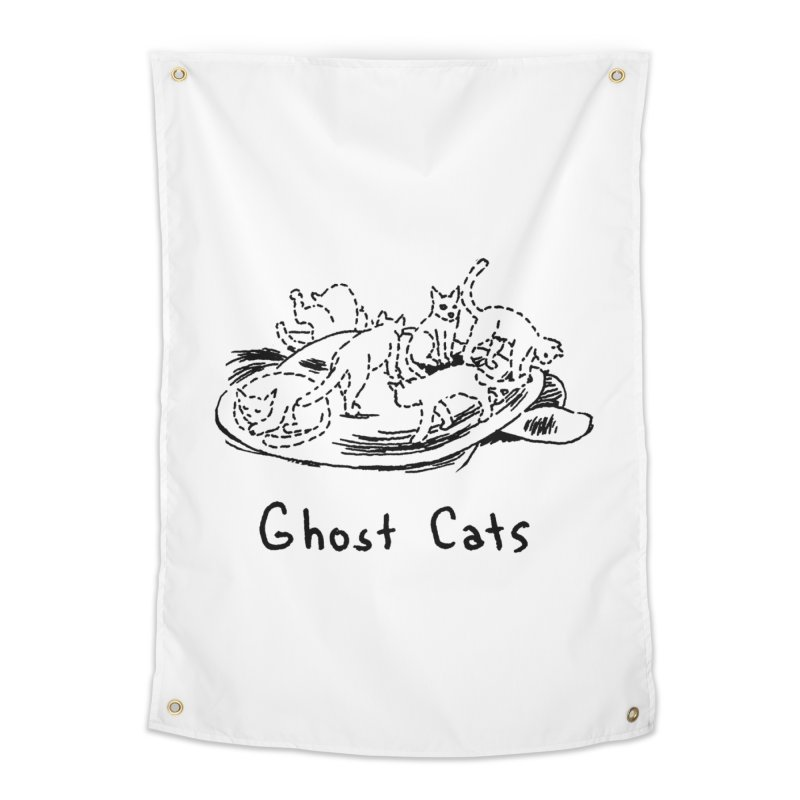Ghost Cats (Gabrielle Bell, blk) Home Tapestry by Uncivilized Books Merch Shop