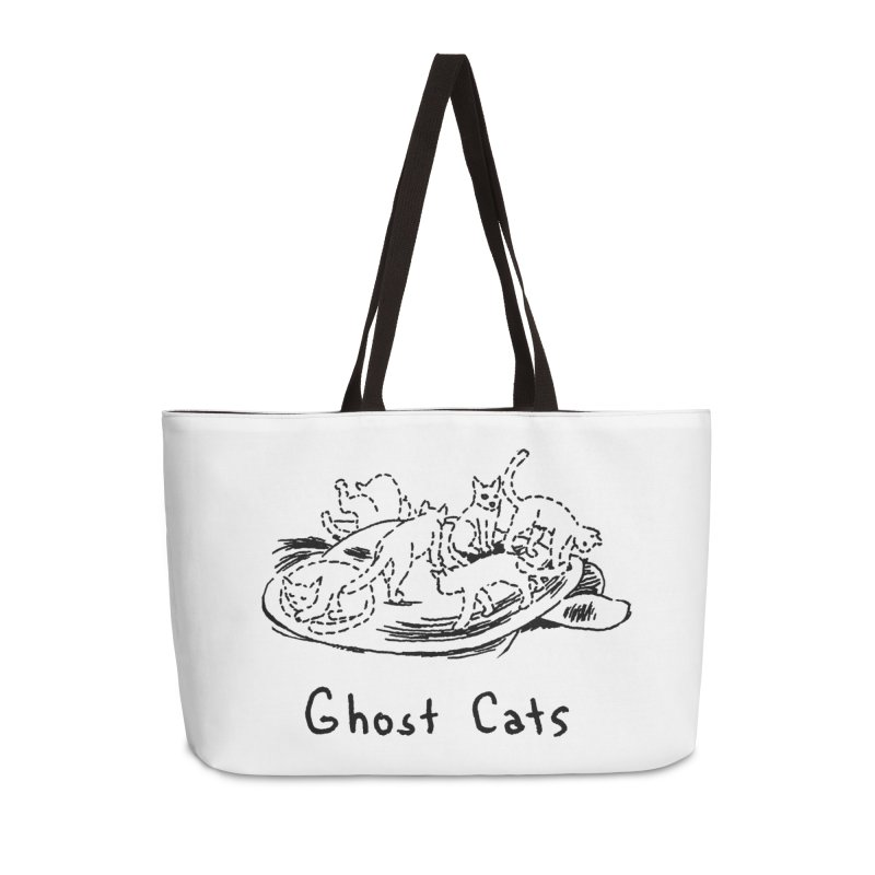 Ghost Cats (Gabrielle Bell, blk) Accessories Weekender Bag Bag by Uncivilized Books Merch Shop
