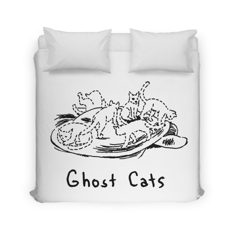 Ghost Cats (Gabrielle Bell, blk) Home Duvet by Uncivilized Books Merch Shop