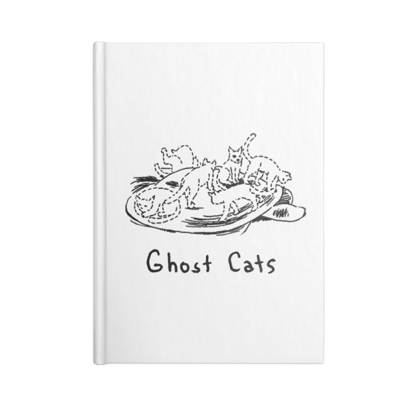 Ghost Cats (Gabrielle Bell, blk) Accessories Lined Journal Notebook by Uncivilized Books Merch Shop
