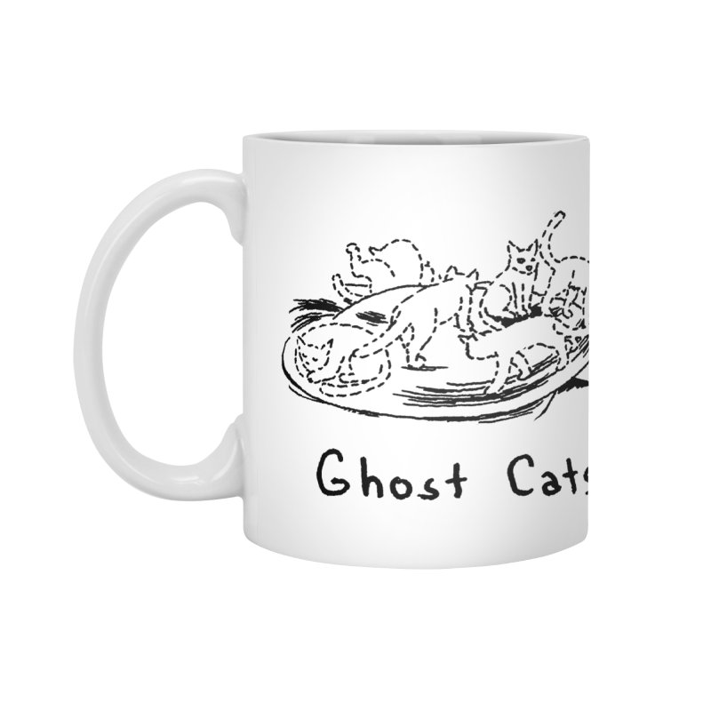 Ghost Cats (Gabrielle Bell, blk) Accessories Mug by Uncivilized Books Merch Shop