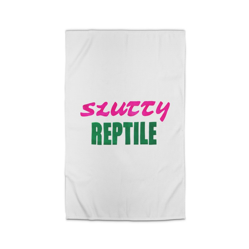 Slutty Reptile Home Rug by UNCLE DAD PRODUCTIONS
