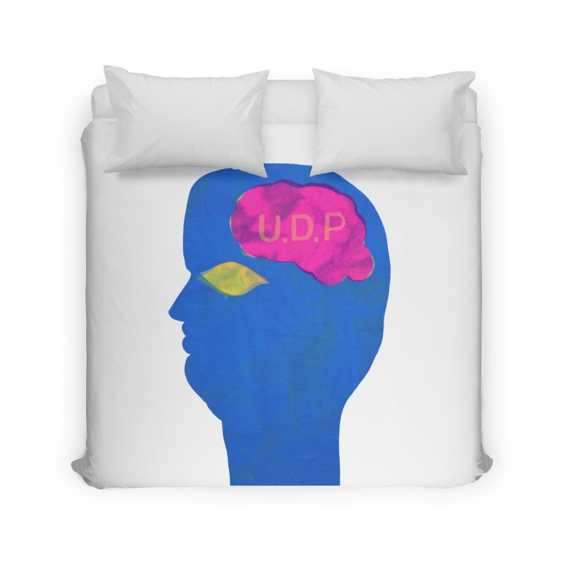 UDP on the Brain Home Duvet by UNCLE DAD PRODUCTIONS