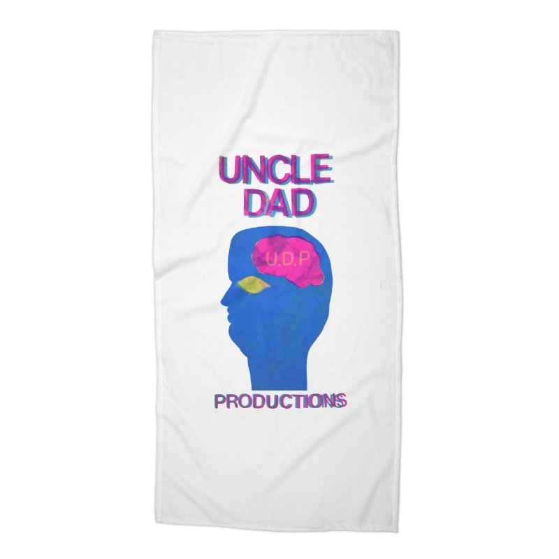 UDP on the Brain Accessories Beach Towel by UNCLE DAD PRODUCTIONS