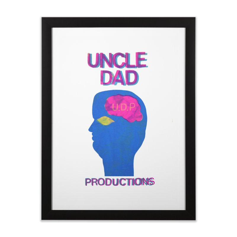 UDP on the Brain Home Framed Fine Art Print by UNCLE DAD PRODUCTIONS