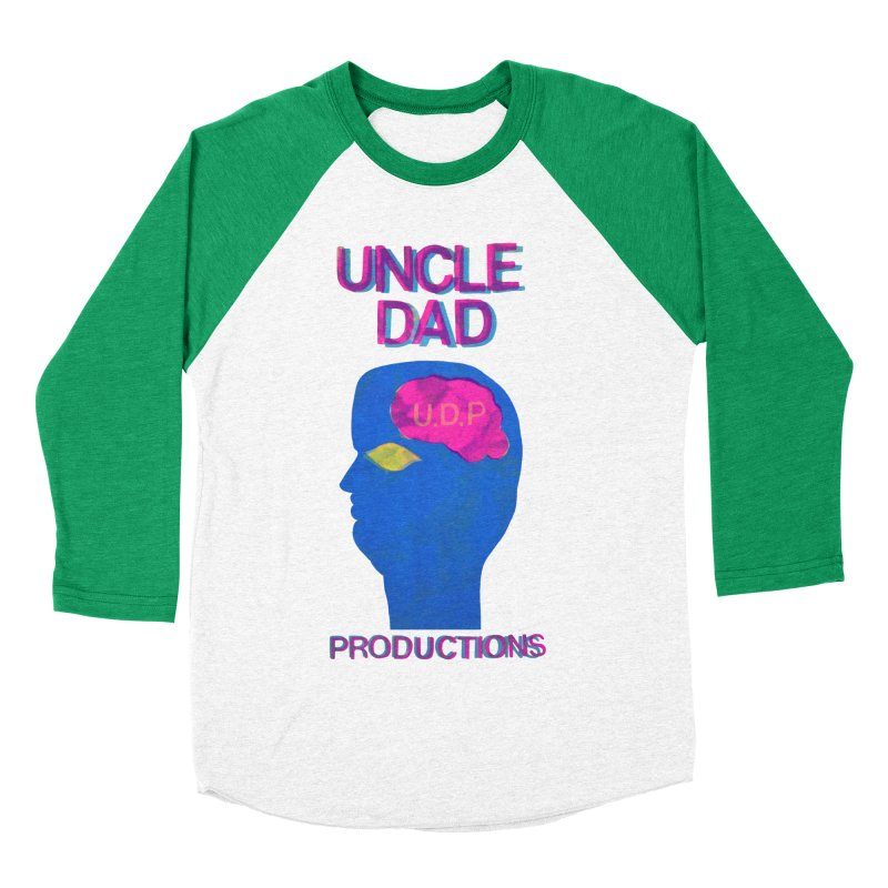 UDP on the Brain Men's Baseball Triblend T-Shirt by UNCLE DAD PRODUCTIONS