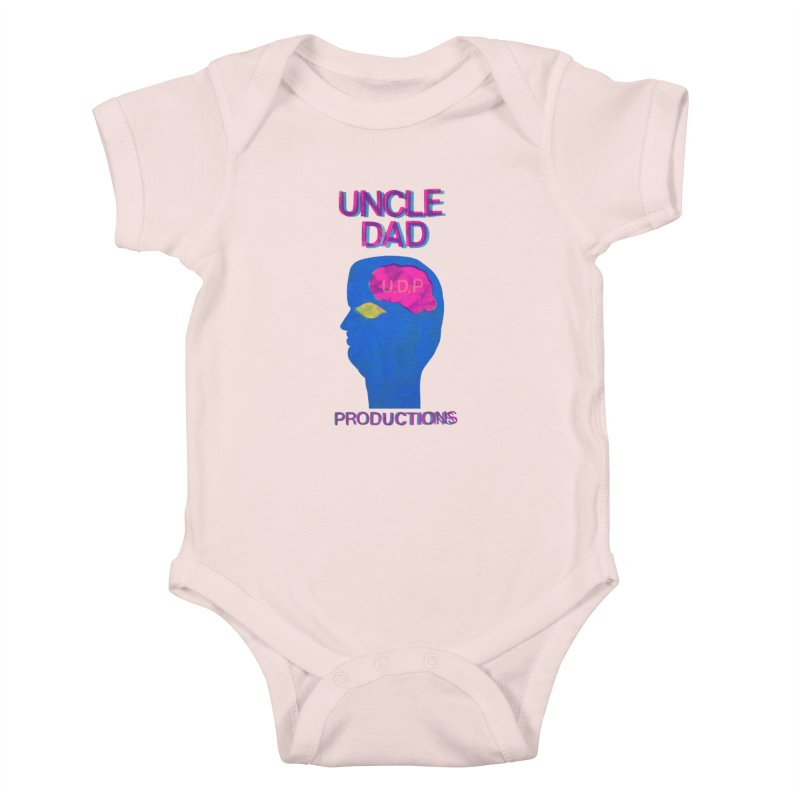 UDP on the Brain Kids Baby Bodysuit by UNCLE DAD PRODUCTIONS