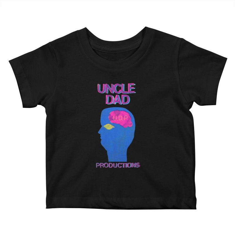 UDP on the Brain Kids Baby T-Shirt by UNCLE DAD PRODUCTIONS