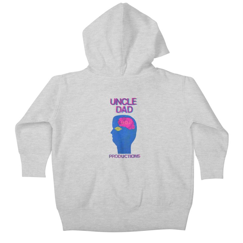 UDP on the Brain Kids Baby Zip-Up Hoody by UNCLE DAD PRODUCTIONS