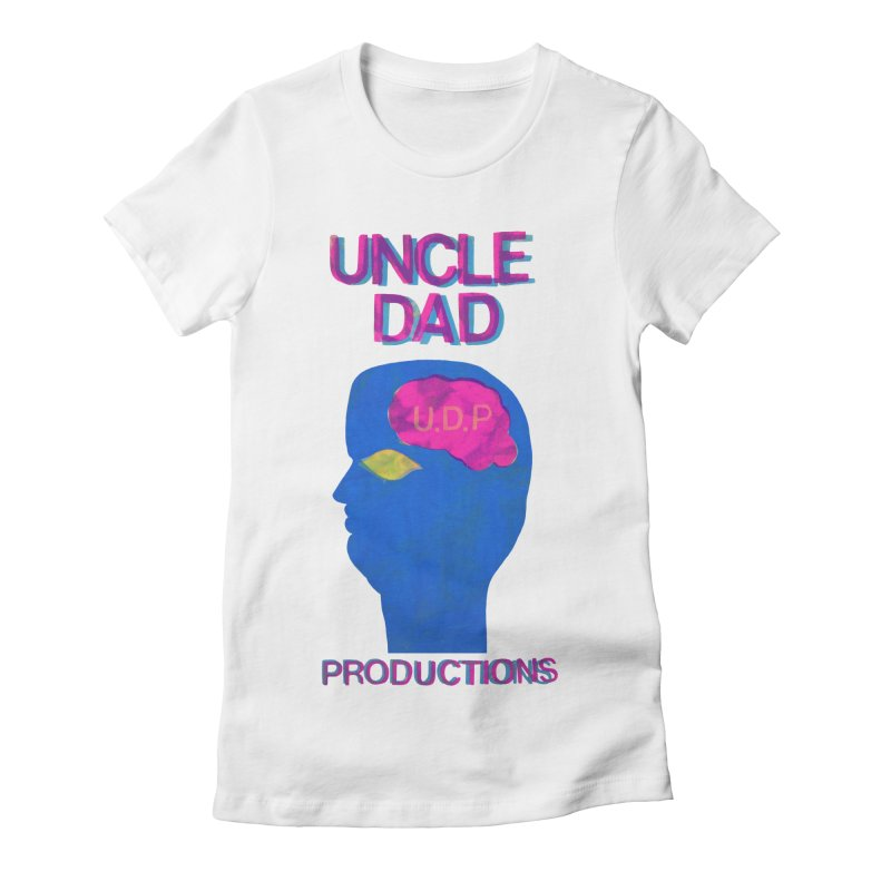 UDP on the Brain Women's Fitted T-Shirt by UNCLE DAD PRODUCTIONS
