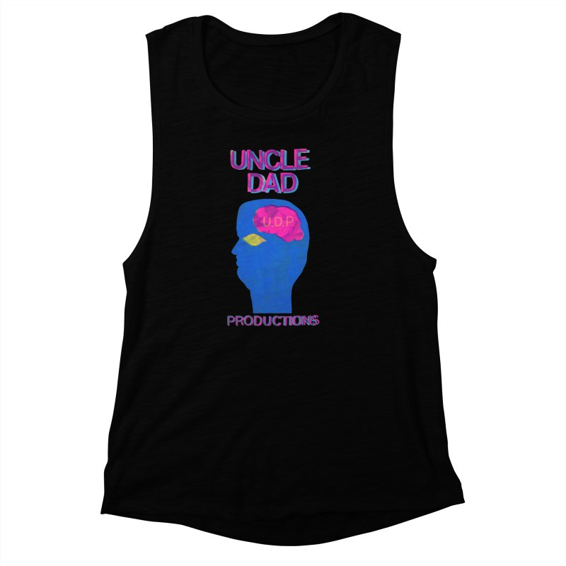 UDP on the Brain Women's Muscle Tank by UNCLE DAD PRODUCTIONS