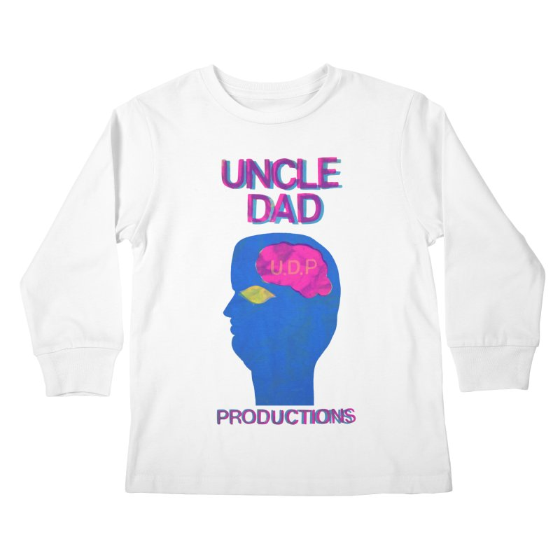 UDP on the Brain Kids Longsleeve T-Shirt by UNCLE DAD PRODUCTIONS