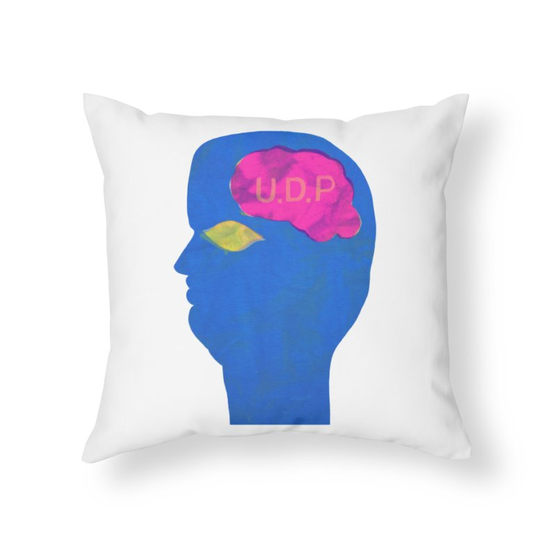 UDP on the Brain Home Throw Pillow by UNCLE DAD PRODUCTIONS