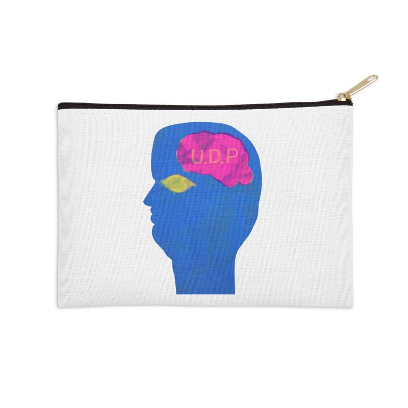 UDP on the Brain Accessories Zip Pouch by UNCLE DAD PRODUCTIONS