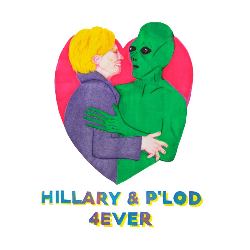 Hillary's Alien Lover Accessories Beach Towel by UNCLE DAD PRODUCTIONS