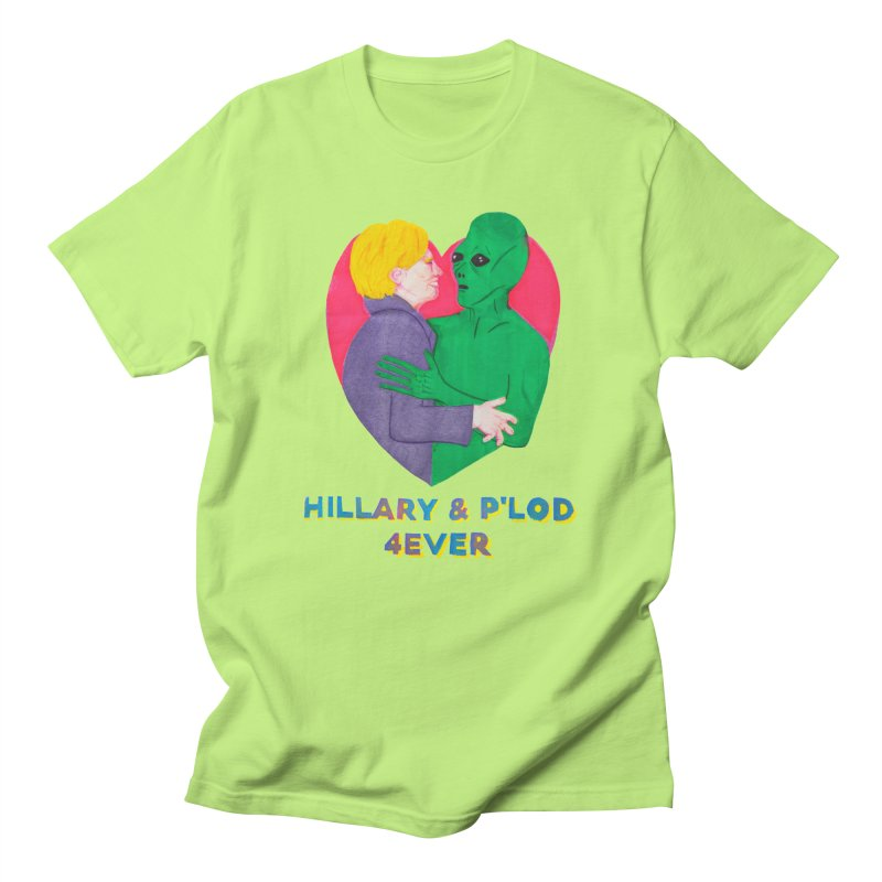 Hillary's Alien Lover Men's Regular T-Shirt by UNCLE DAD PRODUCTIONS