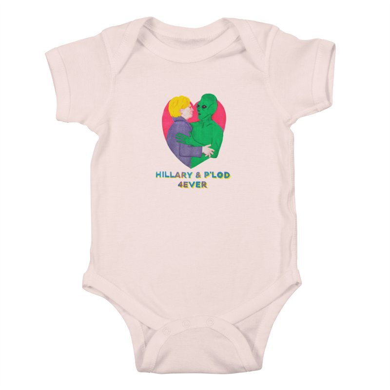 Hillary's Alien Lover Kids Baby Bodysuit by UNCLE DAD PRODUCTIONS