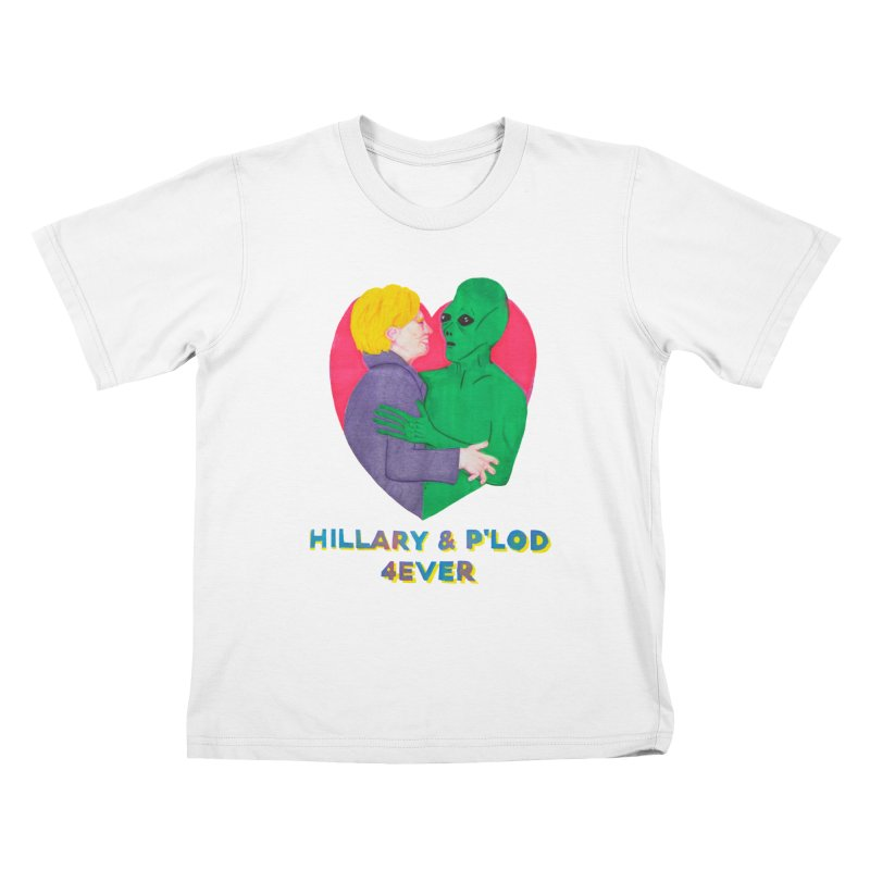 Hillary's Alien Lover Kids T-Shirt by UNCLE DAD PRODUCTIONS
