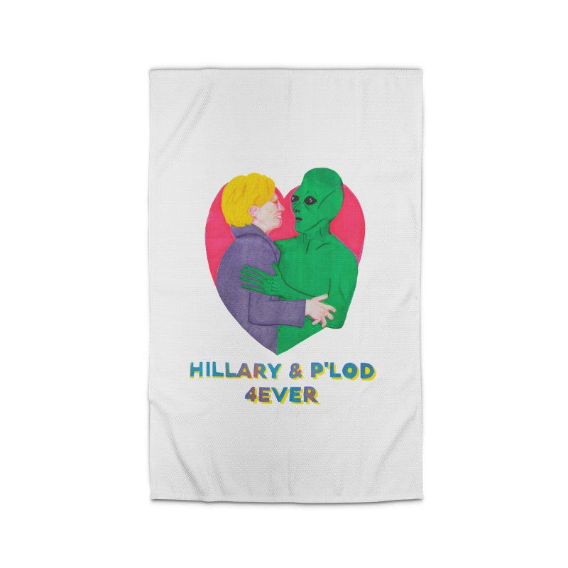 Hillary's Alien Lover Home Rug by UNCLE DAD PRODUCTIONS