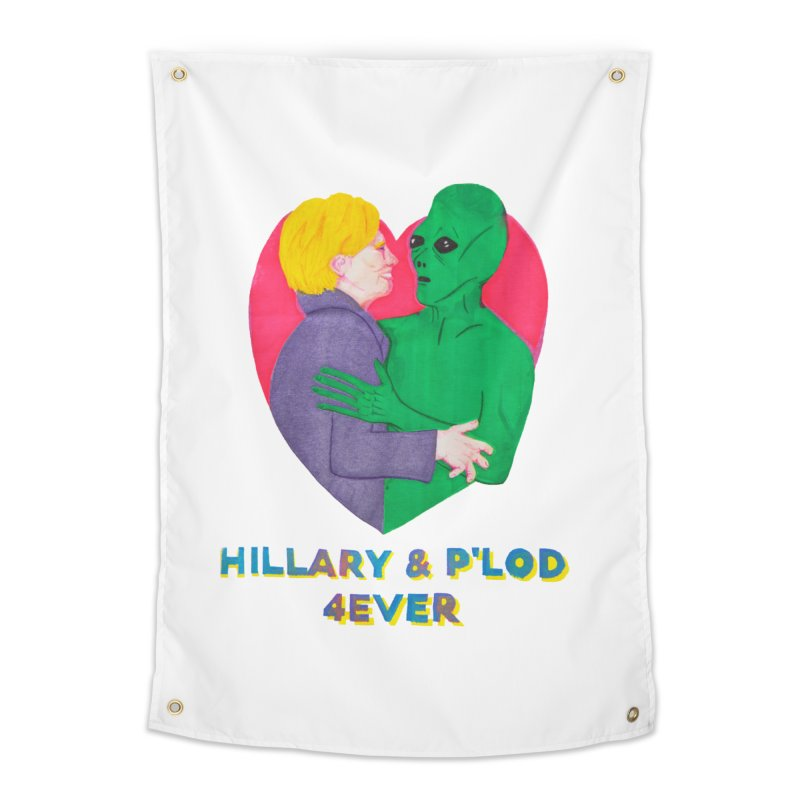 Hillary's Alien Lover Home Tapestry by UNCLE DAD PRODUCTIONS
