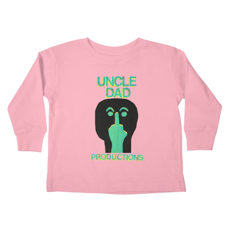 Pissed Alien Kids Toddler Longsleeve T-Shirt by UNCLE DAD PRODUCTIONS
