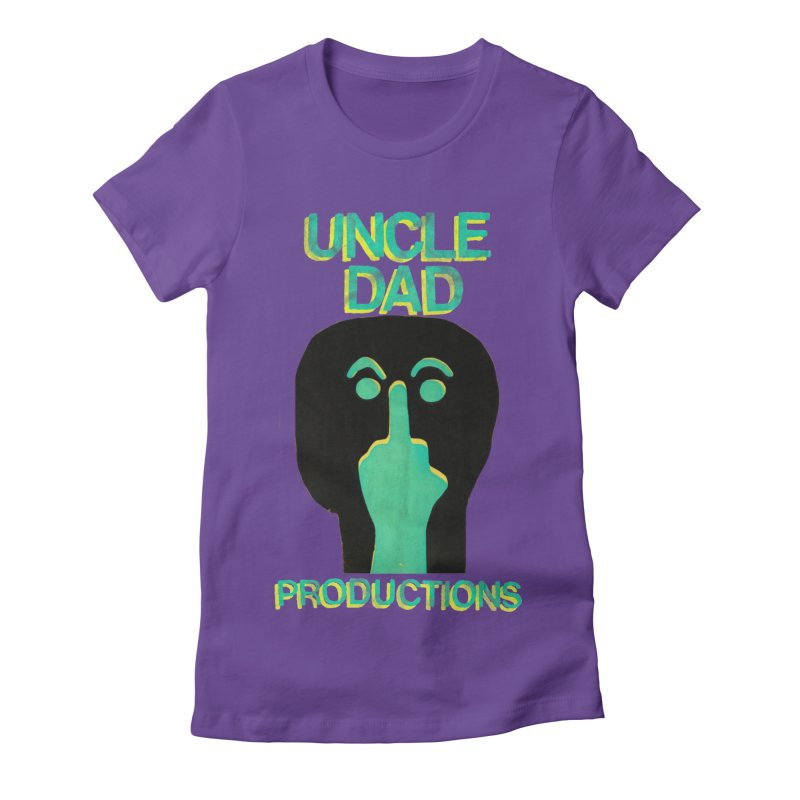 Pissed Alien Women's Fitted T-Shirt by UNCLE DAD PRODUCTIONS