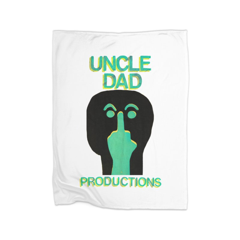 Pissed Alien Home Blanket by UNCLE DAD PRODUCTIONS