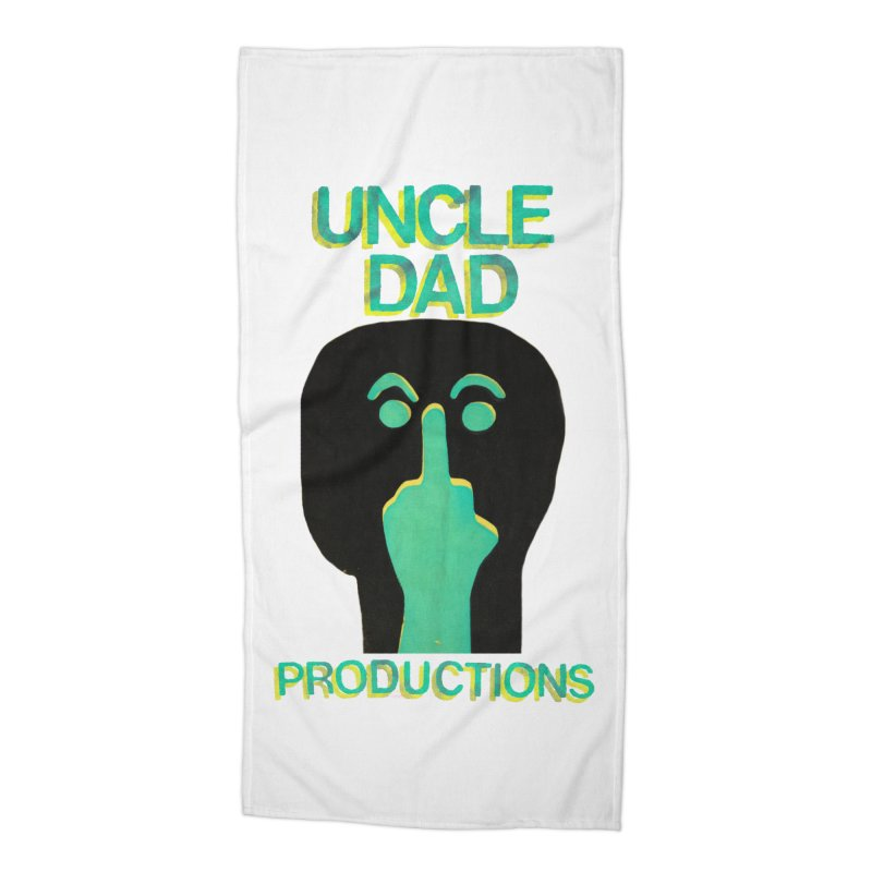 Pissed Alien Accessories Beach Towel by UNCLE DAD PRODUCTIONS