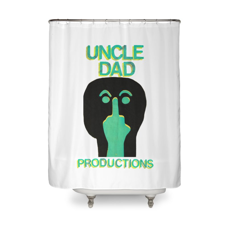 Pissed Alien Home Shower Curtain by UNCLE DAD PRODUCTIONS