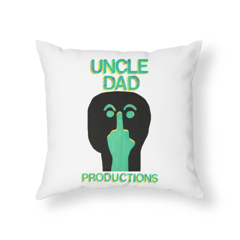 Pissed Alien Home Throw Pillow by UNCLE DAD PRODUCTIONS