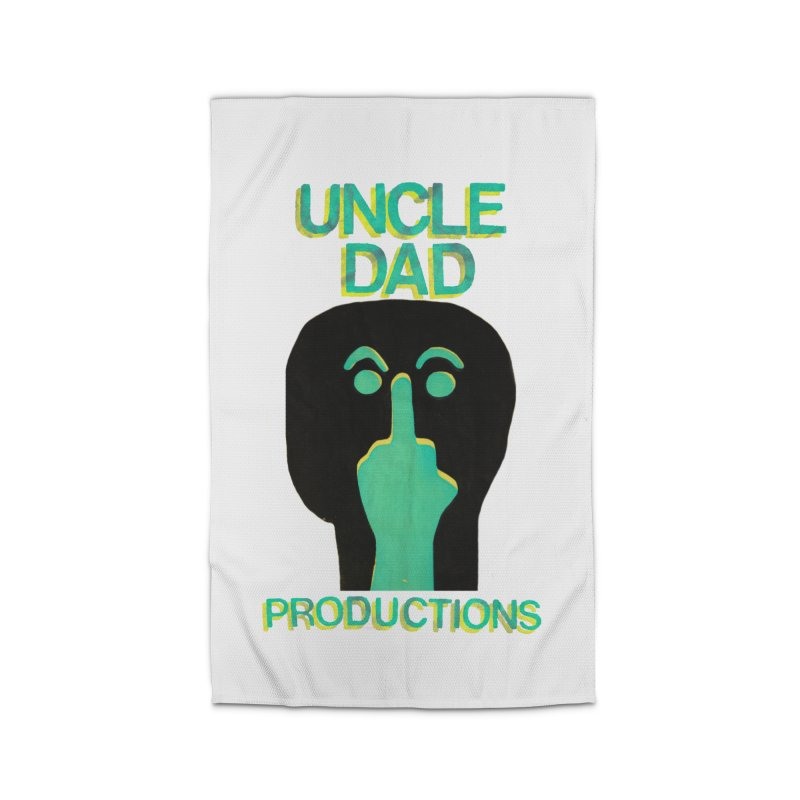 Pissed Alien Home Rug by UNCLE DAD PRODUCTIONS