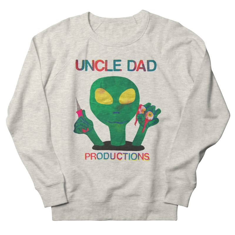 Violent Alien Women's French Terry Sweatshirt by UNCLE DAD PRODUCTIONS