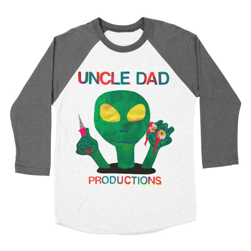 Violent Alien Women's Baseball Triblend T-Shirt by UNCLE DAD PRODUCTIONS
