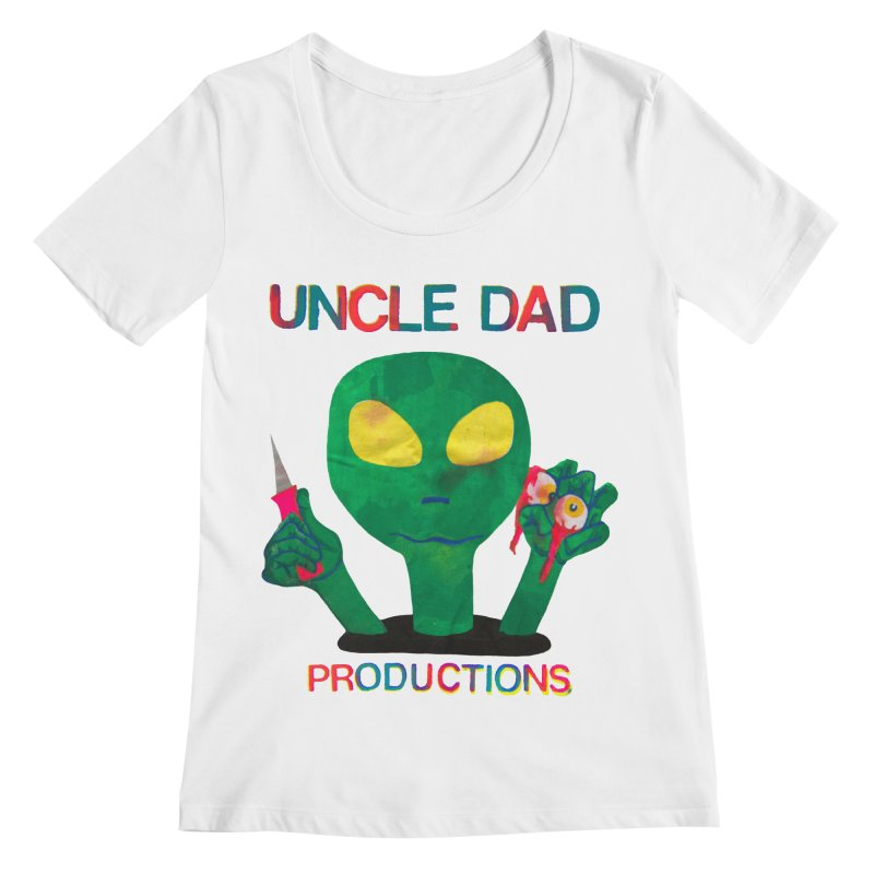 Violent Alien Women's Scoopneck by UNCLE DAD PRODUCTIONS