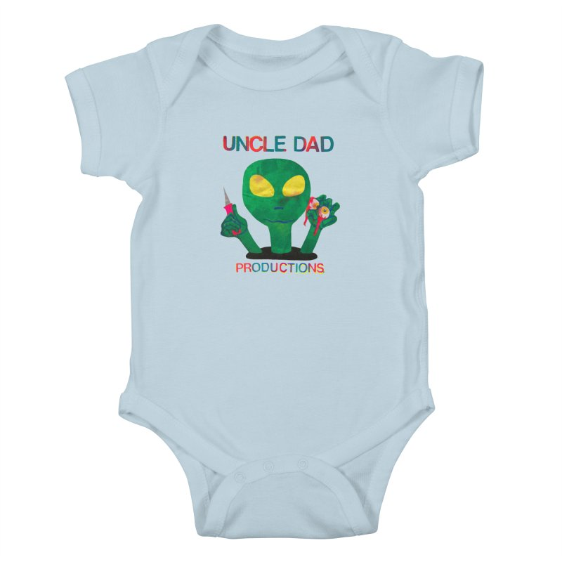 Violent Alien Kids Baby Bodysuit by UNCLE DAD PRODUCTIONS