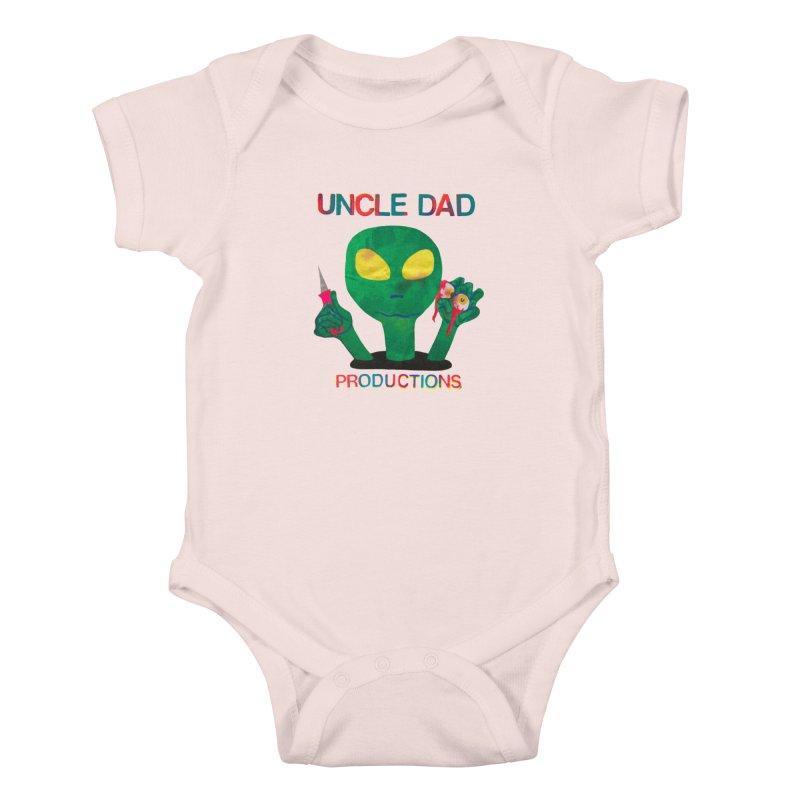 Violent Alien Kids Baby Bodysuit by UNCLE DAD PRODUCTIONS