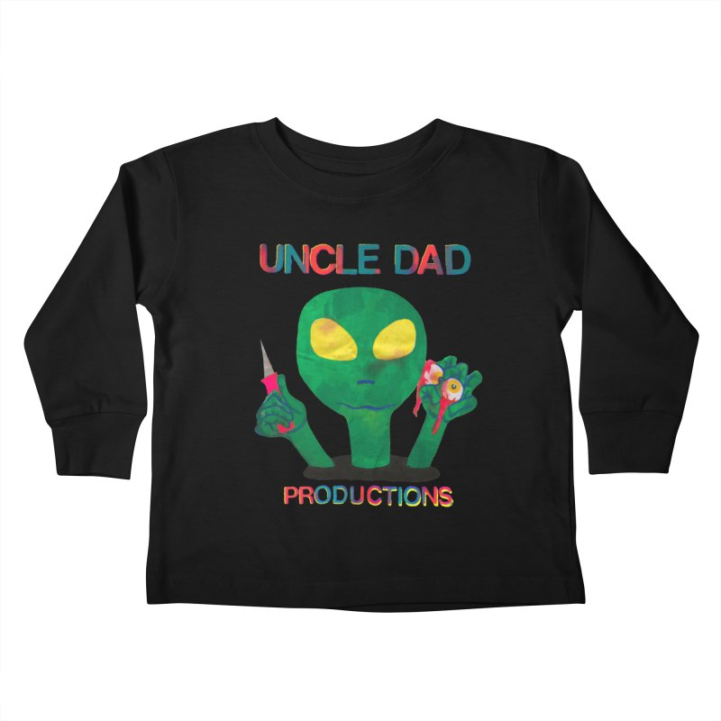 Violent Alien Kids Toddler Longsleeve T-Shirt by UNCLE DAD PRODUCTIONS
