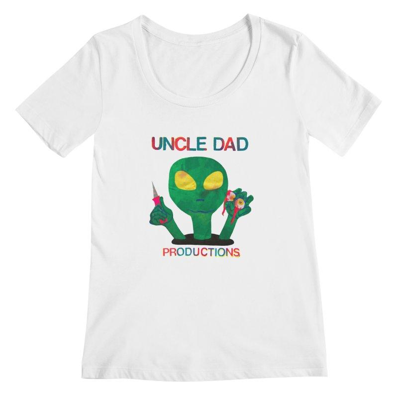 Violent Alien Women's Scoopneck by UNCLE DAD PRODUCTIONS