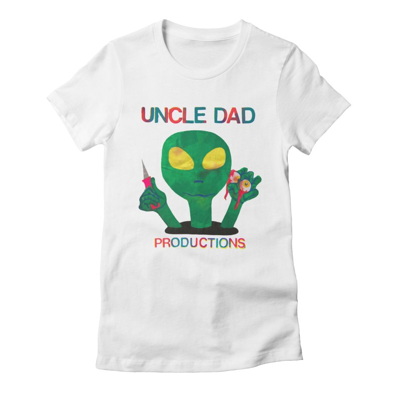 Violent Alien Women's Fitted T-Shirt by UNCLE DAD PRODUCTIONS
